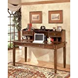 Ashley Furniture Signature Design - Hamlyn Home Office Desk Hutch - Short - Traditional - Medium Brown