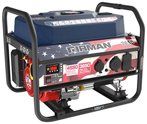 Firman P03611 Performance Series 4550/3650 Watt Gas Recoil Start Generator, EPA Only, Stars and Stripes