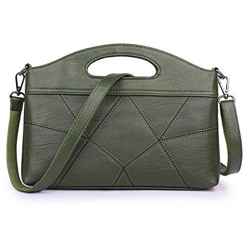 SJMMBB Bolso De Solo Hombro Inclinado De Costura,Verde,29X22X6Cm Verde