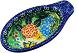 Polish Pottery 4¼-inch Dish for Pits made by Ceramika Artystyczna (Spring Garden Theme) Signature UNIKAT + Certificate of Authenticity
