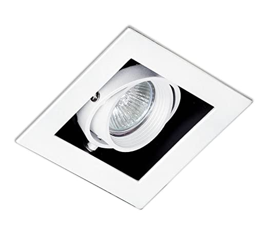 Faro Barcelona Gingko 03030101 - Empotrable, 100W, acero, color blanco