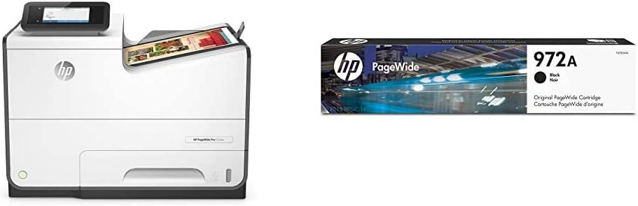 HP PageWide Pro 552DW Color Business Printer, Wireless & 2-Sided Duplex Printing (D3Q17A) with Standard Yield Black Ink Cartridge