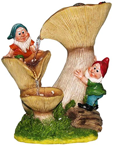 SINTECHNO SNF91159-4 Gnomes with Tall Mushroom House Wate...