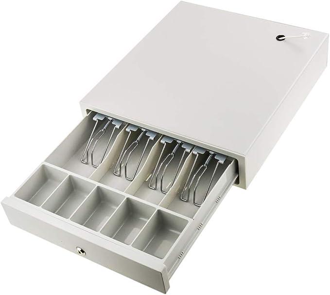 BeMatik - Cajón portamonedas Beige automático RJ11 para Impresora ...