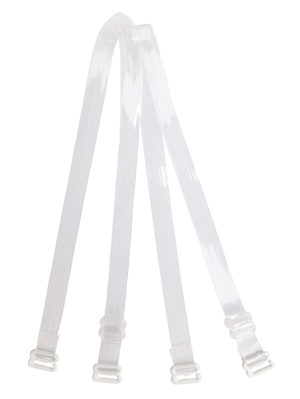 Clear Invisible Bra Shoulder Strap - Metal Hook w/Plastic Cover, 3/8 5/8 3/4