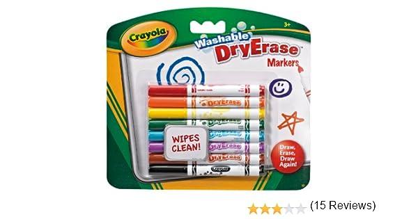 CRAYOLA - Dry Erase, 8 Mini rotuladores para Pizarra Blanca (98 ...