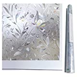 Bloss Home Decoractive Stained Glass Window Film Laser Static Cling Stickers(17.7-by-78.7 Inch)