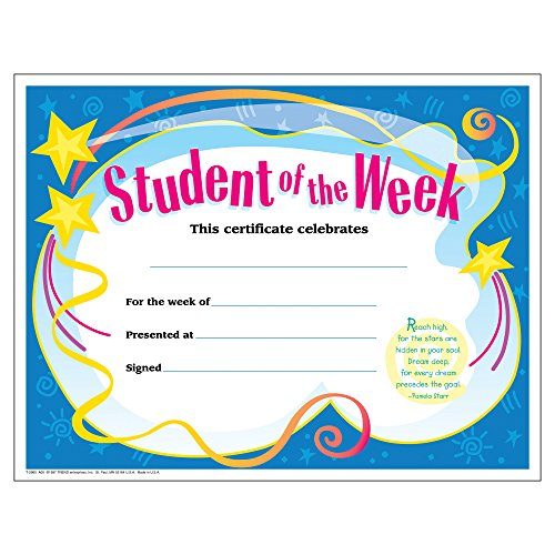 (TREND enterprises, Inc. T-2960BN Student of The Week Colorful Classics Certificates, 30 Per Pack, 6 Packs )