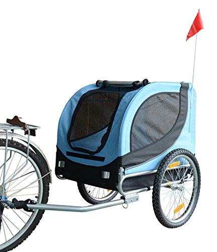 MDOG2 MK0001 Comfy Pet Bike Trailer, Blue/Black