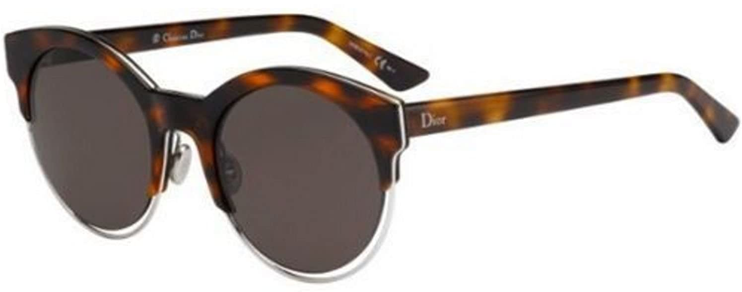 f1b9a2dff9 Amazon.com  Christian Dior SIDERAL1 J6A NR havana palladium brown grey  Sunglasse  Clothing