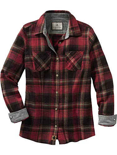 Legendary Whitetails Ladies Cottage Escape Ladies Flannel Forest Plaid Medium ()