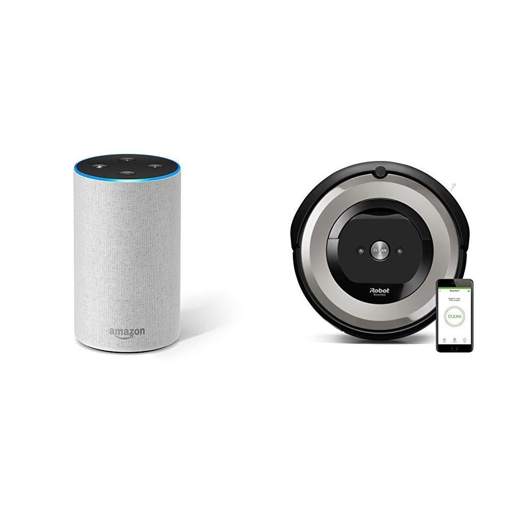 Echo gris claro + iRobot Roomba e5154 - Robot Aspirador Óptimo ...
