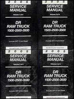 2005 dodge ram truck repair shop manual 4 vol set original 1500 rh amazon com 2005 dodge ram 2500 service manual pdf 2005 dodge ram 2500 service manual download