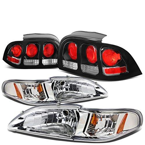 97 mustang black headlights - 9