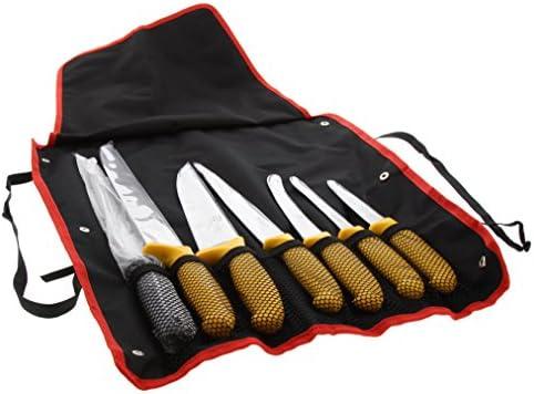 Pradel Excellence – i7107t – Bolsa de 7 Cuchillos de Carnicero y afilador