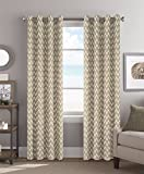 Cheap Colordrift Tribal 54 x 84 Inches Curtain with Grommet Finish – Chevron Taupe
