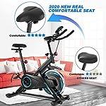 ANCHEER-Bici-da-Spinning-Cyclette-con-Volantino-di-Inerzia-18-kg-Display-LCD-Sensore-di-Impuls-Collega-con-lApp-Manubrio-e-Sella-Regolabili-Portata-Massima-120-kgNero-volano-18kg