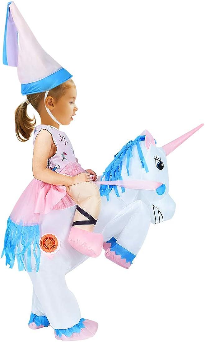 Amazon.com: anotherme hinchable unicornio disfraz de Rider ...