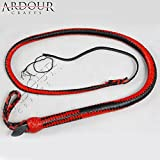 4 feet long 16 plait Genuine Leather Bull Whip Heavy duty Bullwhip Red & Black