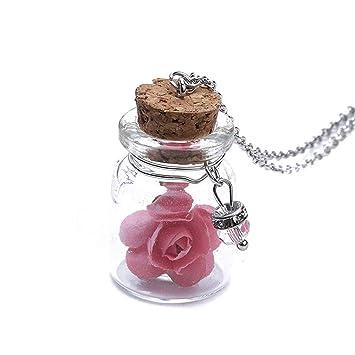 L Shop Mini Anhanger Kette Strand Leuchtende Blume Halskette Blume