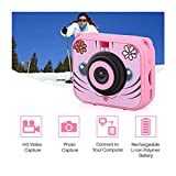 TiTCool Kids Waterproof Camera Video Digital 1080 HD Screen Toys Gifts Build-in SD Card (One Size, Pink) -  TiTCool Baby Toys