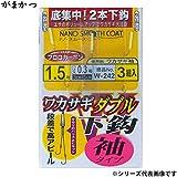 がまかつ(Gamakatsu) ワカサギダブル 下鈎 袖タイプ W242 1.5-0.3.