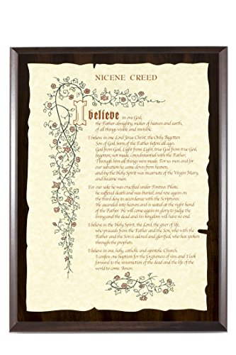Nicene Creed Parchment Plaque 9x12