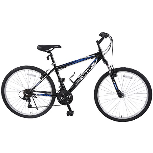 ORKAN Mountain Bike 26'' Men+ Women Hybrid Bike MTB 18 Speed Full Suspension Shimano Blue & ()