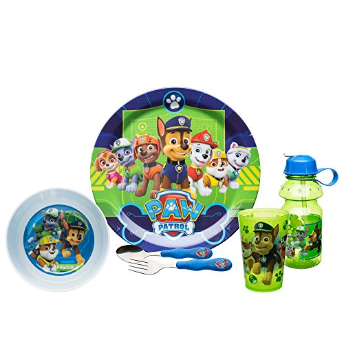 Paw Patrol PWPB-4270-C Chase, Marshall, Skye & Friends Dinnerware Sets 6-piece set by Zak Designs -