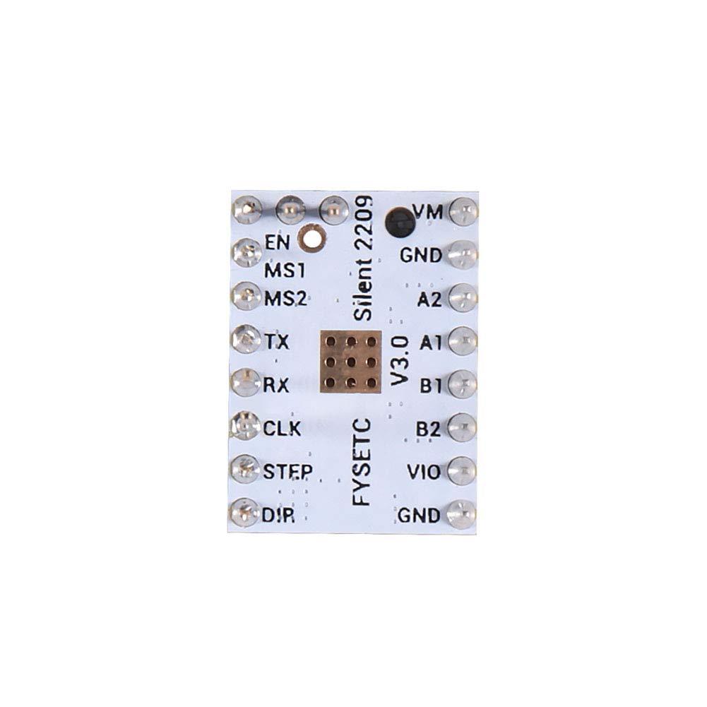 3D Printer Part TMC2209 V3.0 Stepper Motor Driver Sticks Mute Driver with Heat Sink for SKR V1.3 MKS GEN L Ramps 1.4//1.5//1.6 3D Printer Control Board 4PCS