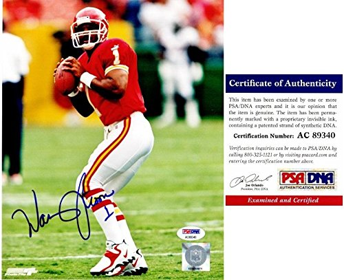 (Signed Warren Moon Picture - 8x10 inch Certificate of Authenticity COA) - PSA/DNA Certified - Autographed NFL Photos)
