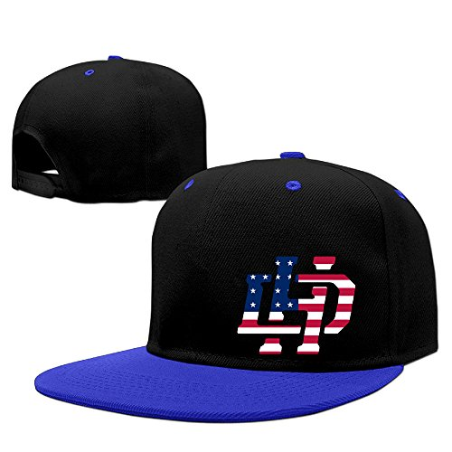 Hotboy19 Dan Wrestler Henderson Hip Hop Baseball Cap Adjustable Flat Bill Hat RoyalBlue