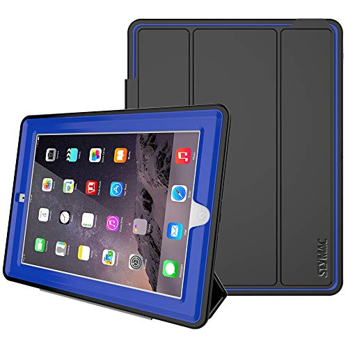 SEYMAC Stock iPad 2/3/4 Case (NOT for iPad 5th/6th or iPad Mini), Heavy Duty 3 Layer Case, Drop Proof, Auto Sleep Smart Cover Protective Magnetic PU Leather Stand for iPad 2/3/4 Generation (Blue)