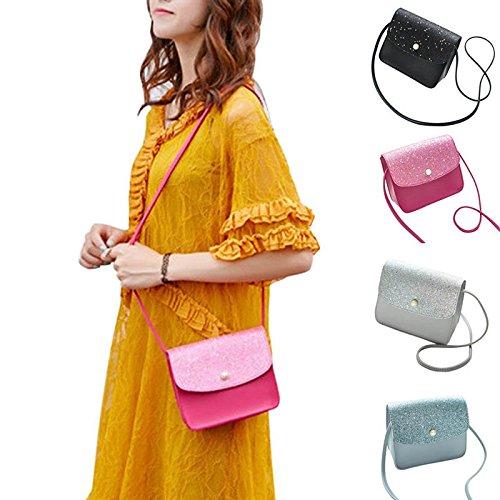 Durable Black Buckle Shoulder Women Dxlta Card PU Bag Mobile Lady Phone Crossbody for Coin Money 0qaBS