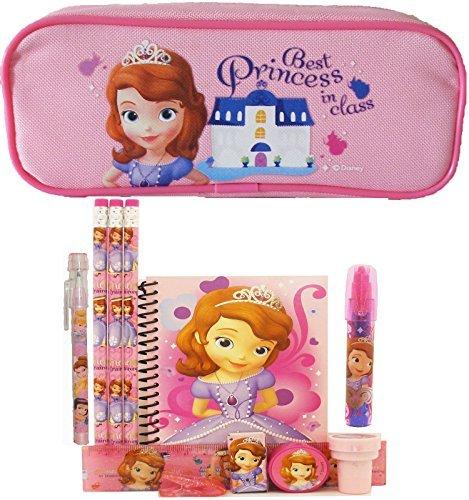 - Disney Princess Sofia Pencil Case with Stationery Set - Pink