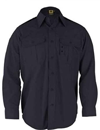 Amazon.com: Propper Tactical Dress Shirt - Long Sleeve Dark Navy ...