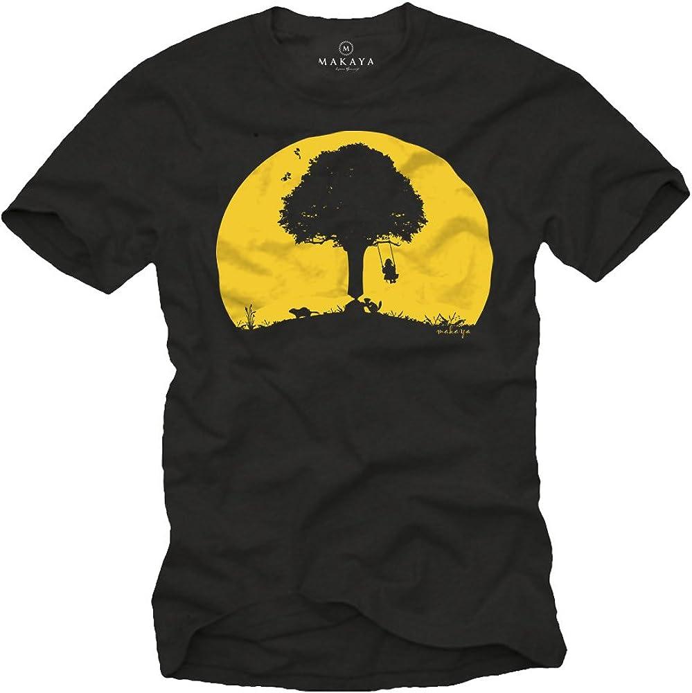 MAKAYA Camisetas con estampas Divertidas - Arbol con bichos