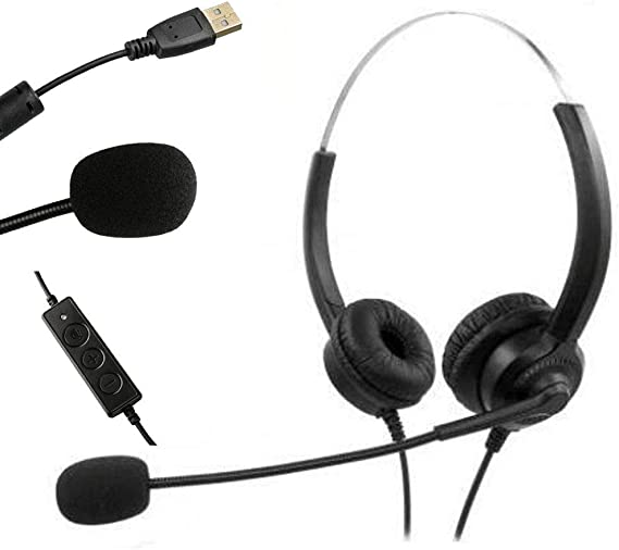 Style 4 Headset with Microphone Adjustable Noise Canceling Earphone Headset Earphone for PC Laptop Computer