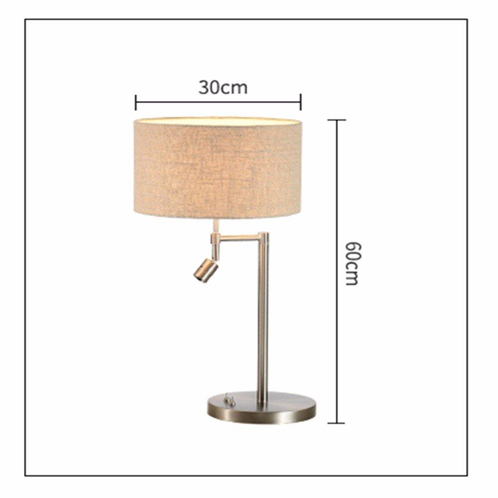 YFF Moderne und Minimalistische kreative Schlafzimmer Bett Dekoration licht Studie kleines Wohnzimmer Stoffen und warmen Lampen