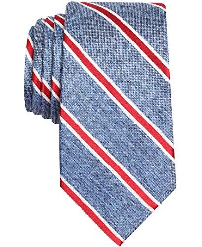 Nautica Men's Anchor Stripe Tie, red, One - Nautica Tie Mens
