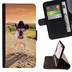 - Bulldog Bull Dog Pet Puppy - - Style PU Leather Case Wallet Flip Stand Flap Closure Cover FOR HTC DESIRE 816 - Devil Case -
