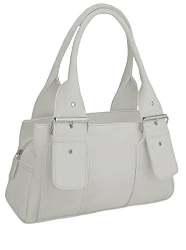 shop for genuine official supplier color brilliancy EyeCatchBags - Brittany Faux Leather Grab Bag Handbag