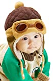 Little Children Toddlers Fleece Lining Aviator Pilot Earflap Hat Coffee