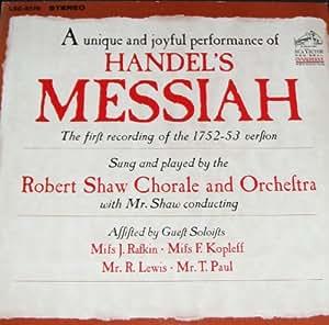 Handel's Messiah 3 LP Box Set (Robert Shaw Chorale)