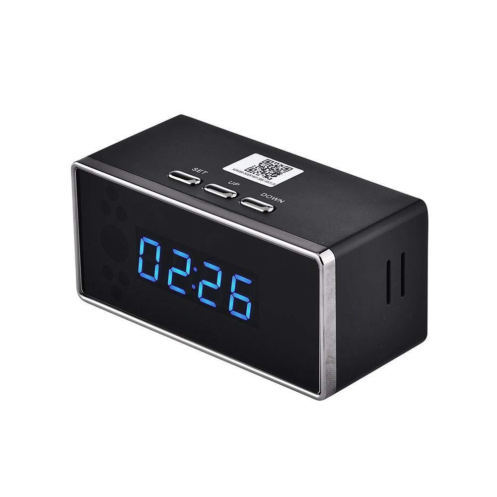 iBaste-home Mini cámara de Moda Cámara Oculta Reloj Despertador Cámara Bluetooth Cámara WiFi Reloj Despertador 1080 P HD Visión Nocturna Reloj Cámara de ...
