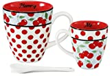 Pavilion Gift 49013 Mommy and Me Two Mugs with Spoon by Jessie Steele