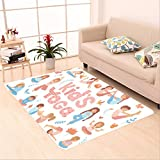 Sophiehome skid Slip rubber back antibacterial  Area Rug cute kids doing yoga exercises yoga kids set gymnastics for children and healthy lifestyle 559726198 Home Decorative