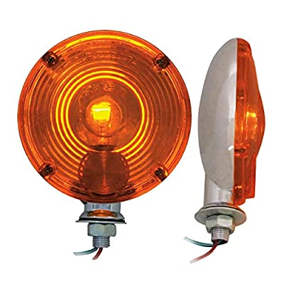 Grand General 80321 Amber 4 Inches Standard 1 Face Combination Light, 4 Holes: Automotive