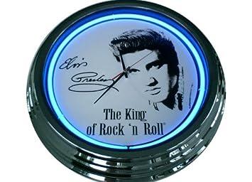 Amazonde Neonuhr Elvis Presley Wanduhr Deko Uhr Leuchtuhr Usa 50s