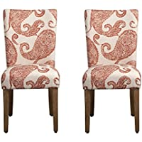 Kinfine Henna Paisley Parsons Upholstered Accent Dining Chairs, Set of 2